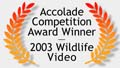 Wildlife Video Award Winner graphic