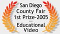 Best Educational Video - San Diego County Fair Logo